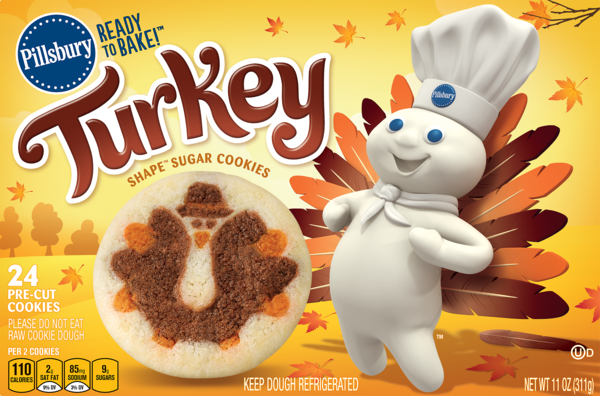 Pillsbury's Place-and-Bake Turkey Cookies Are Your Secret Friendsgiving Weapon