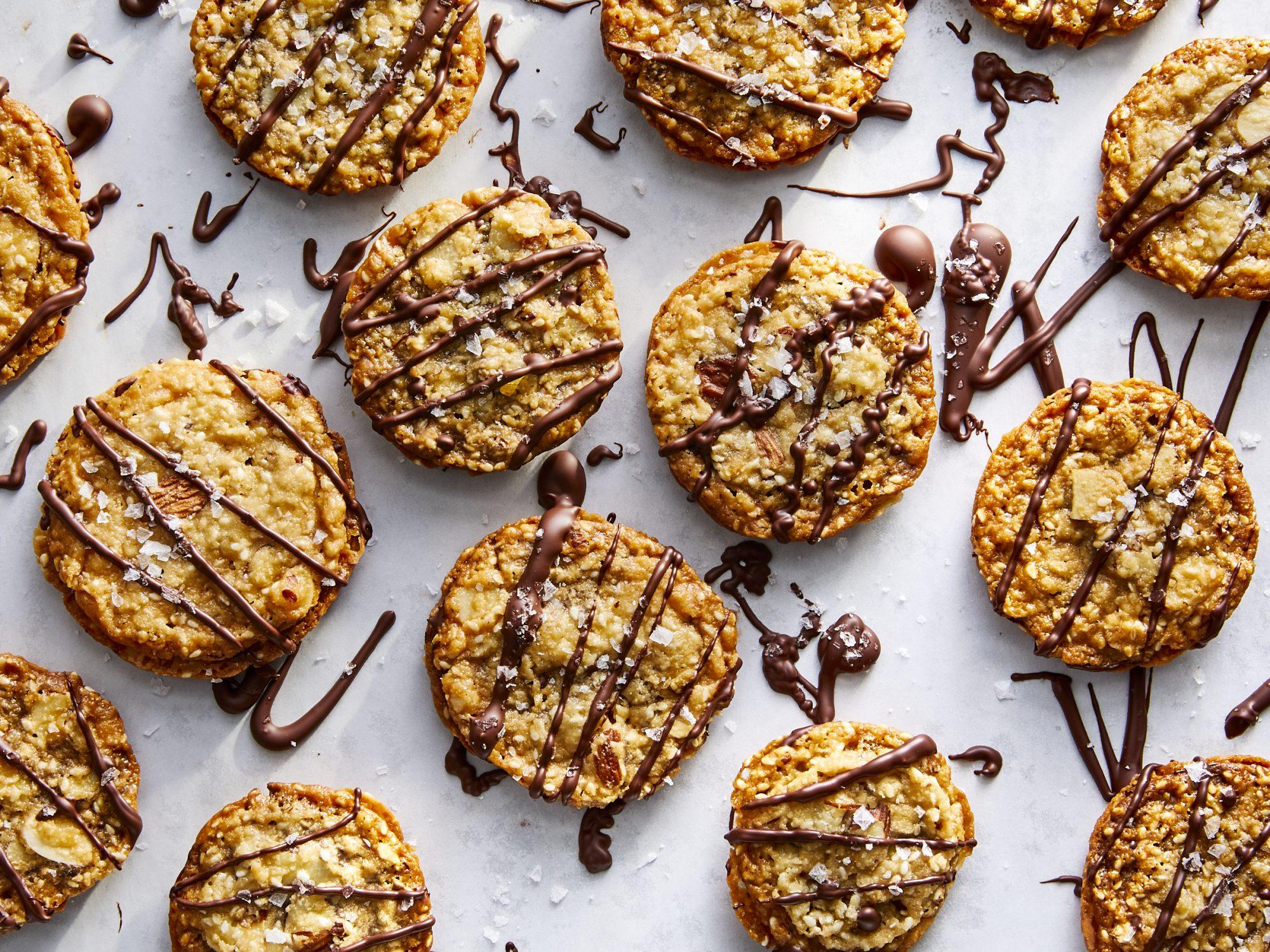 Sesame-Almond LaceCookies