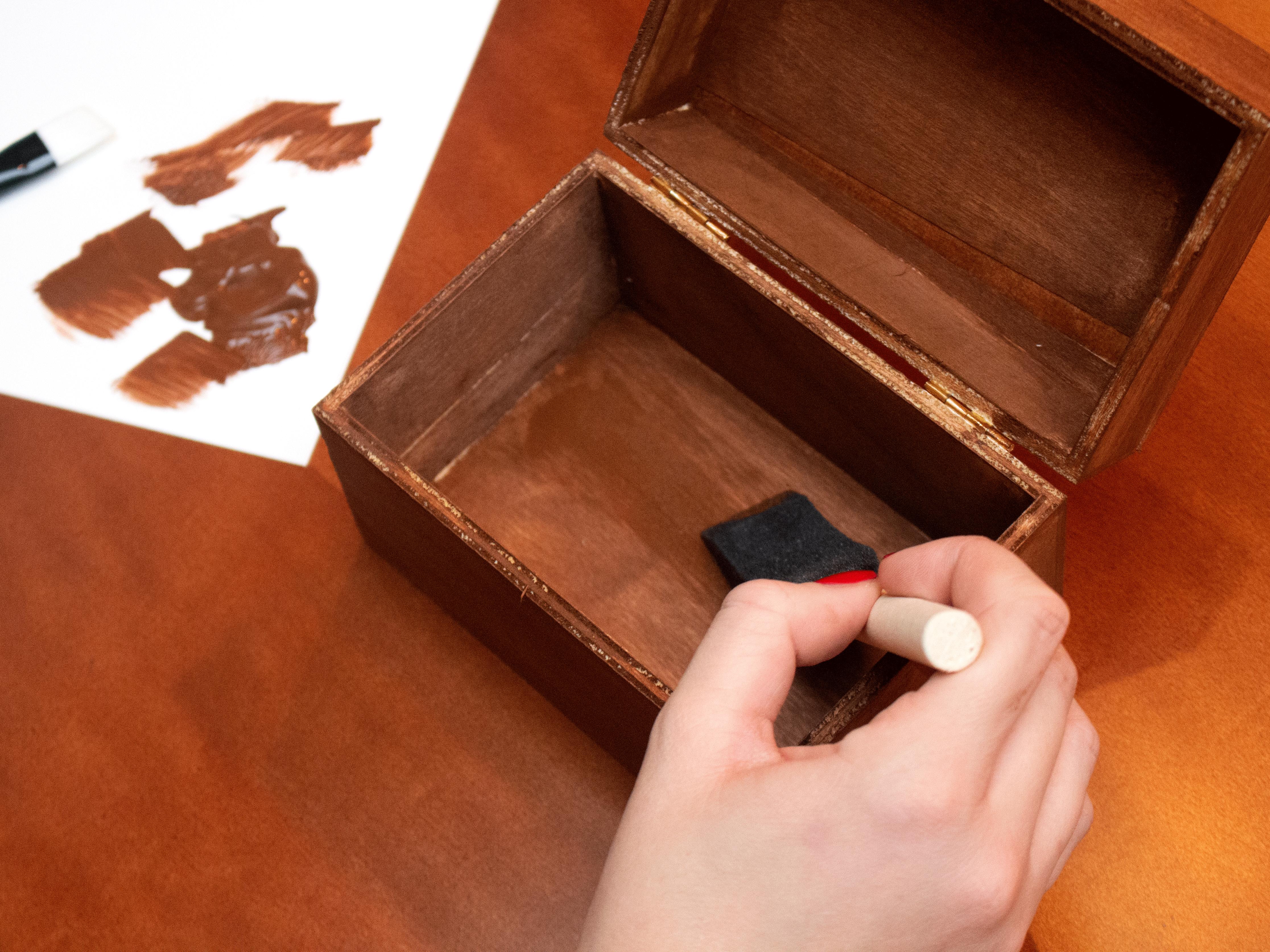 Recipe Box Stain