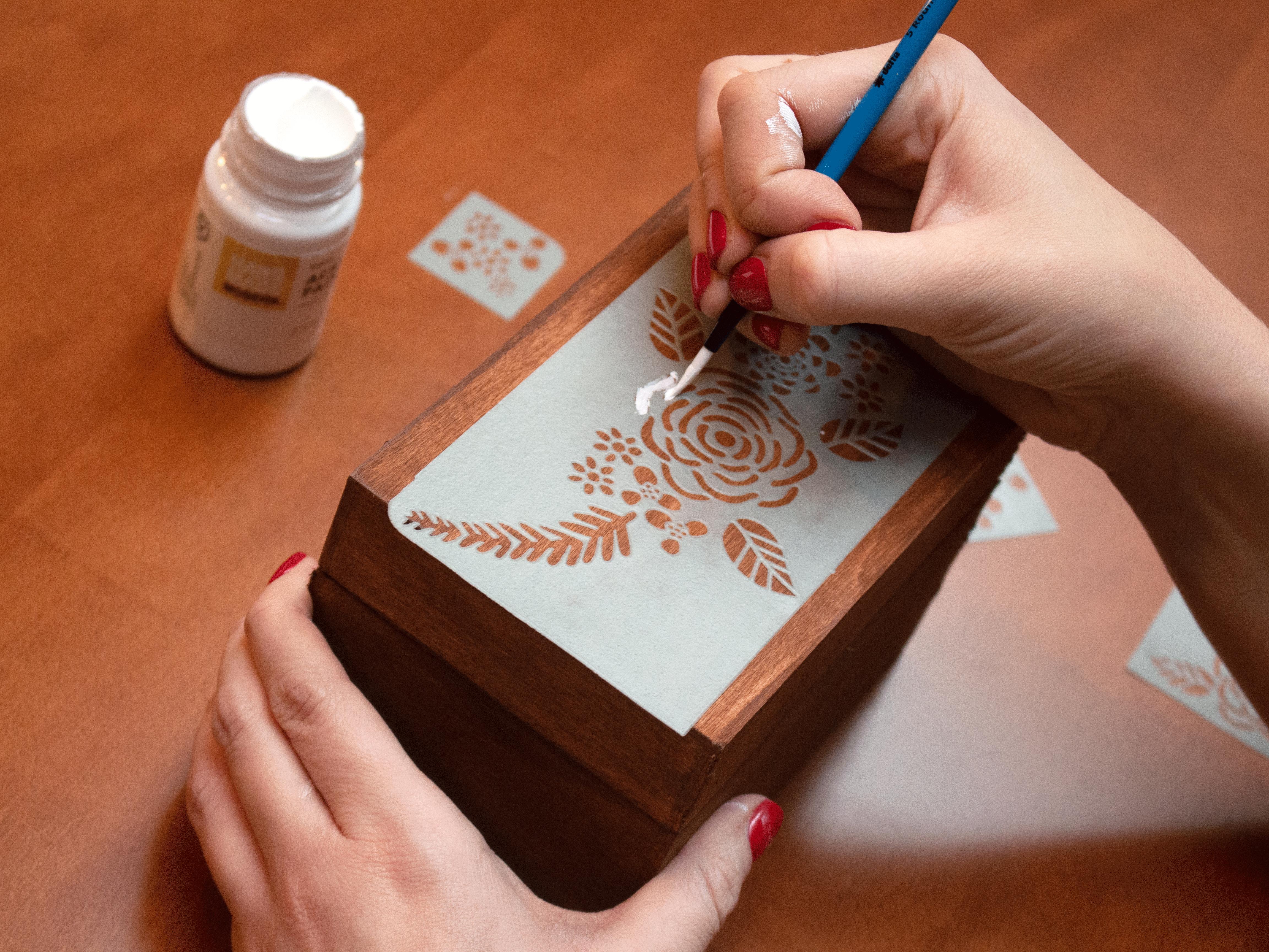 Recipe Box Stencil