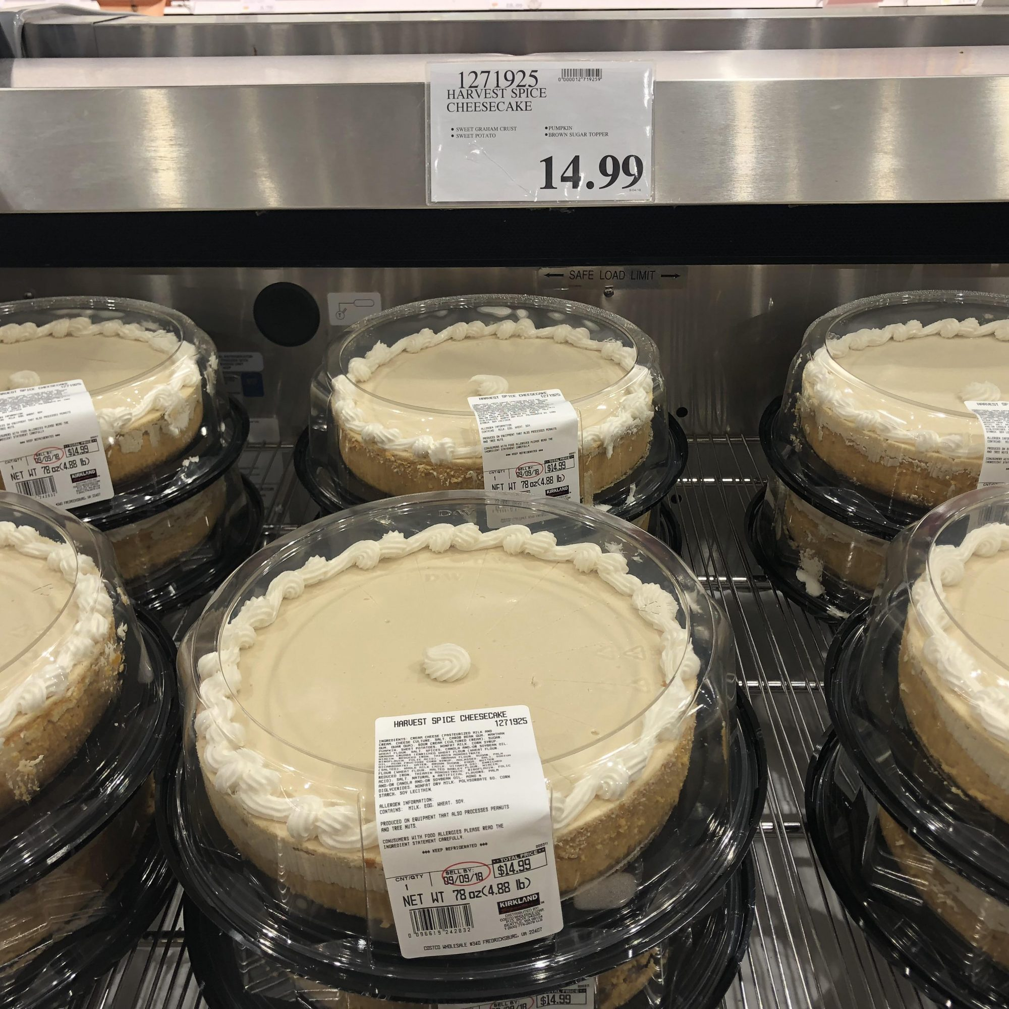 Costco Is Selling a Five Pound Pumpkin Cheesecake