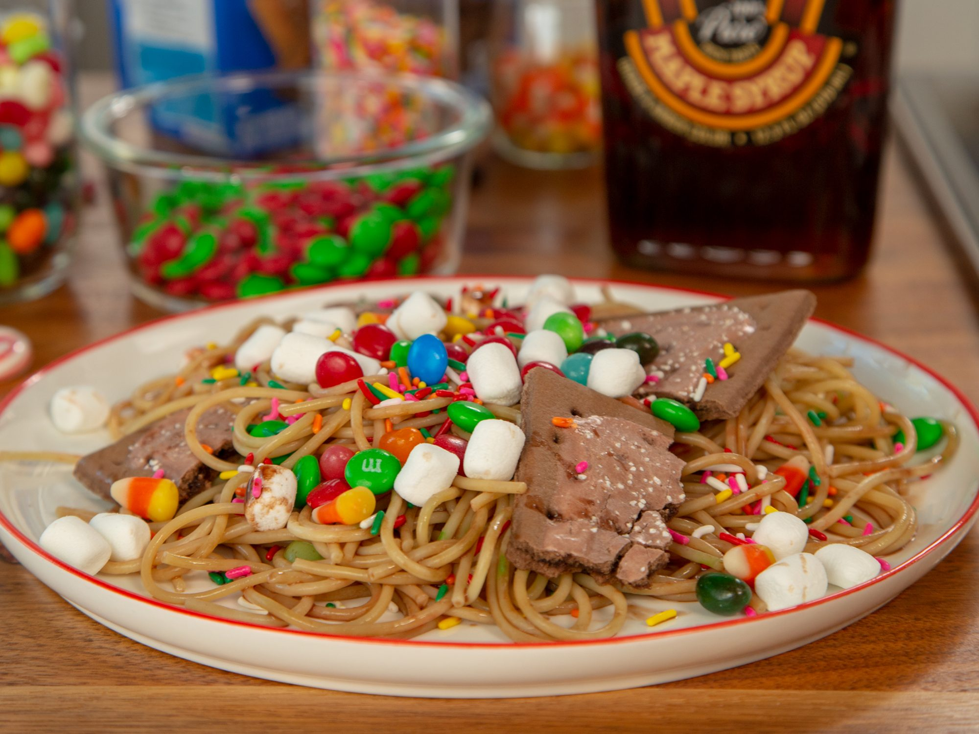 Buddy the Elf's Breakfast Spaghetti image