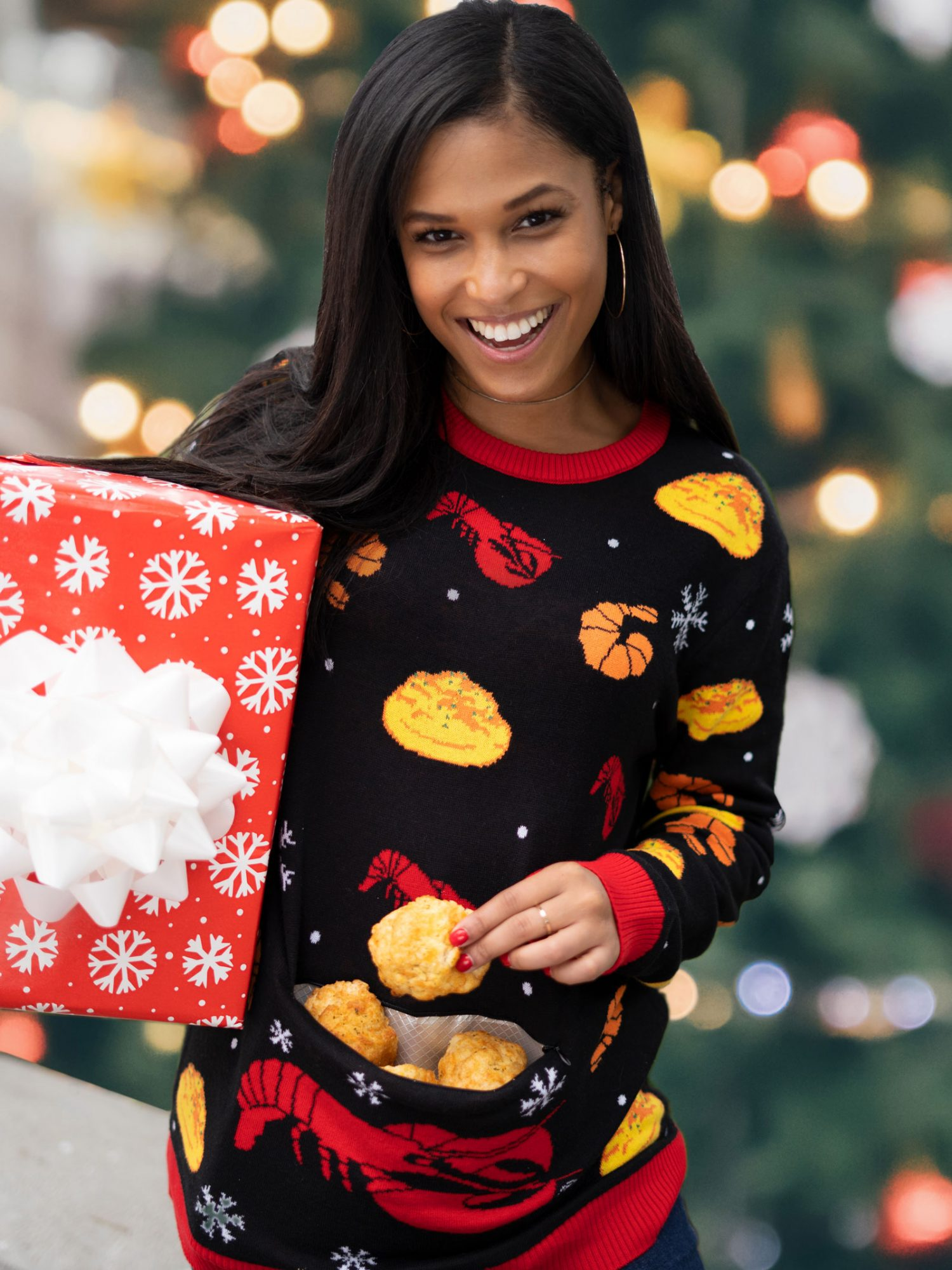 Red Lobster's Ugly Sweater Has a Cheddar Bay Biscuit Pocket red-lobster-sweater-VT-BLOG1119