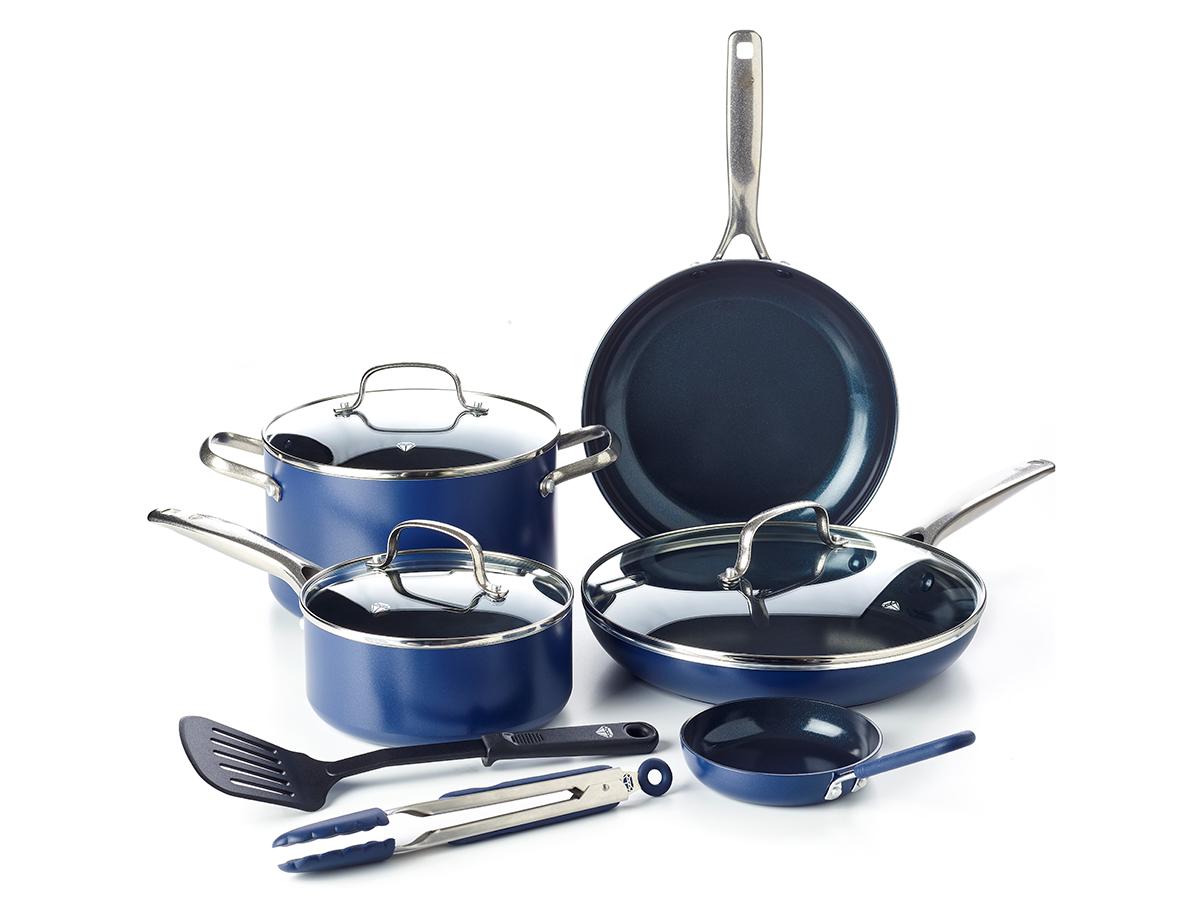 Blue Diamond Ceramic Non-Stick Ultimate Value Cookware Set