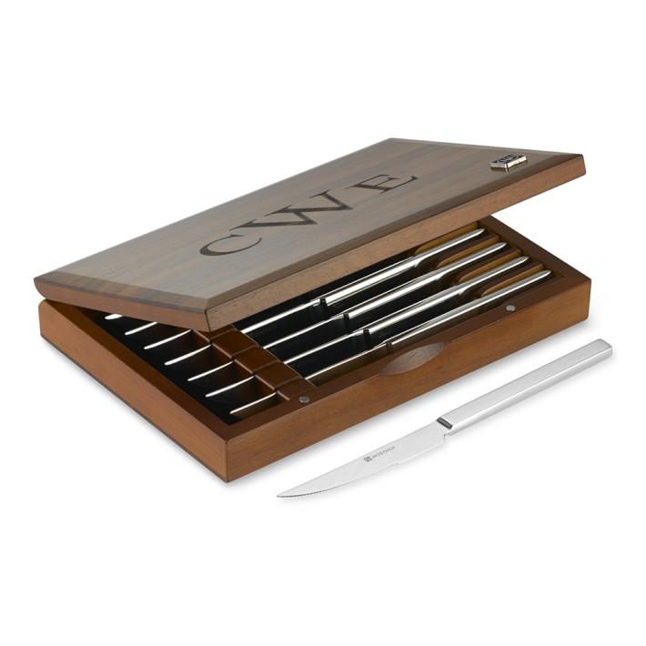 Wüsthof Stainless-Steel 8-Piece Steak Knife Box Set