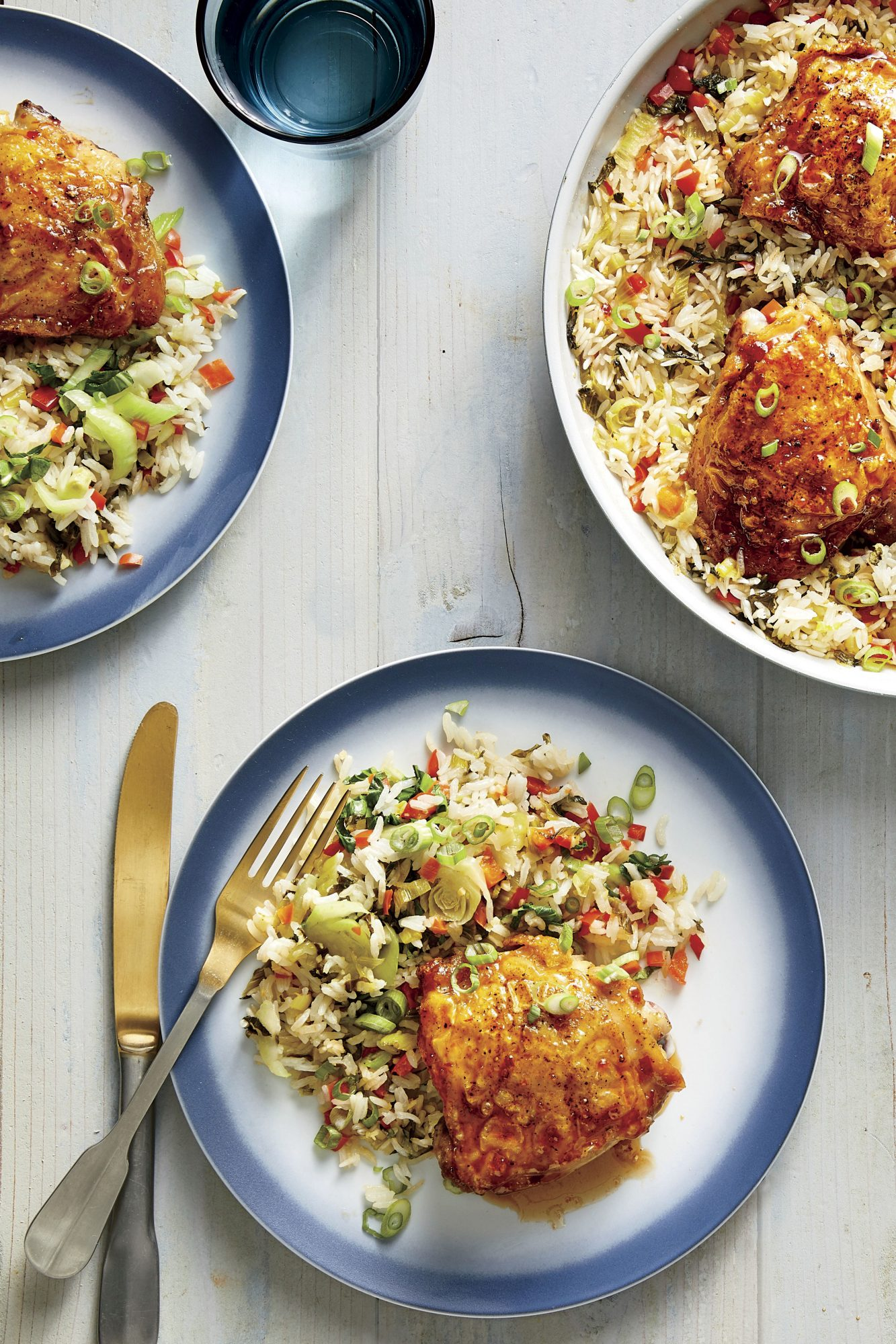 One-Pan Hot Honey Chicken and Rice