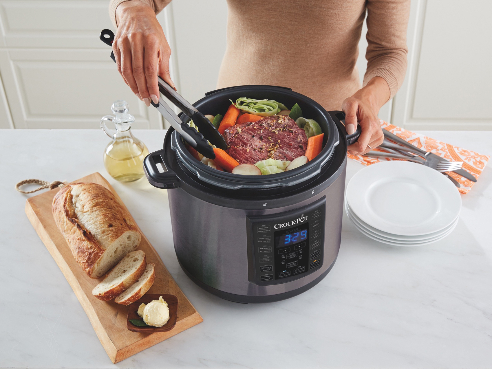 crock pot slow cooker / pressure cooker