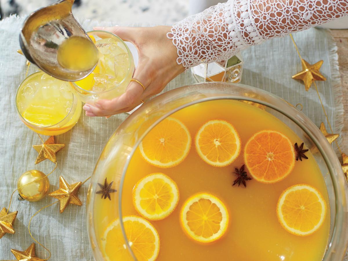Spiced Orange-Bourbon Punch