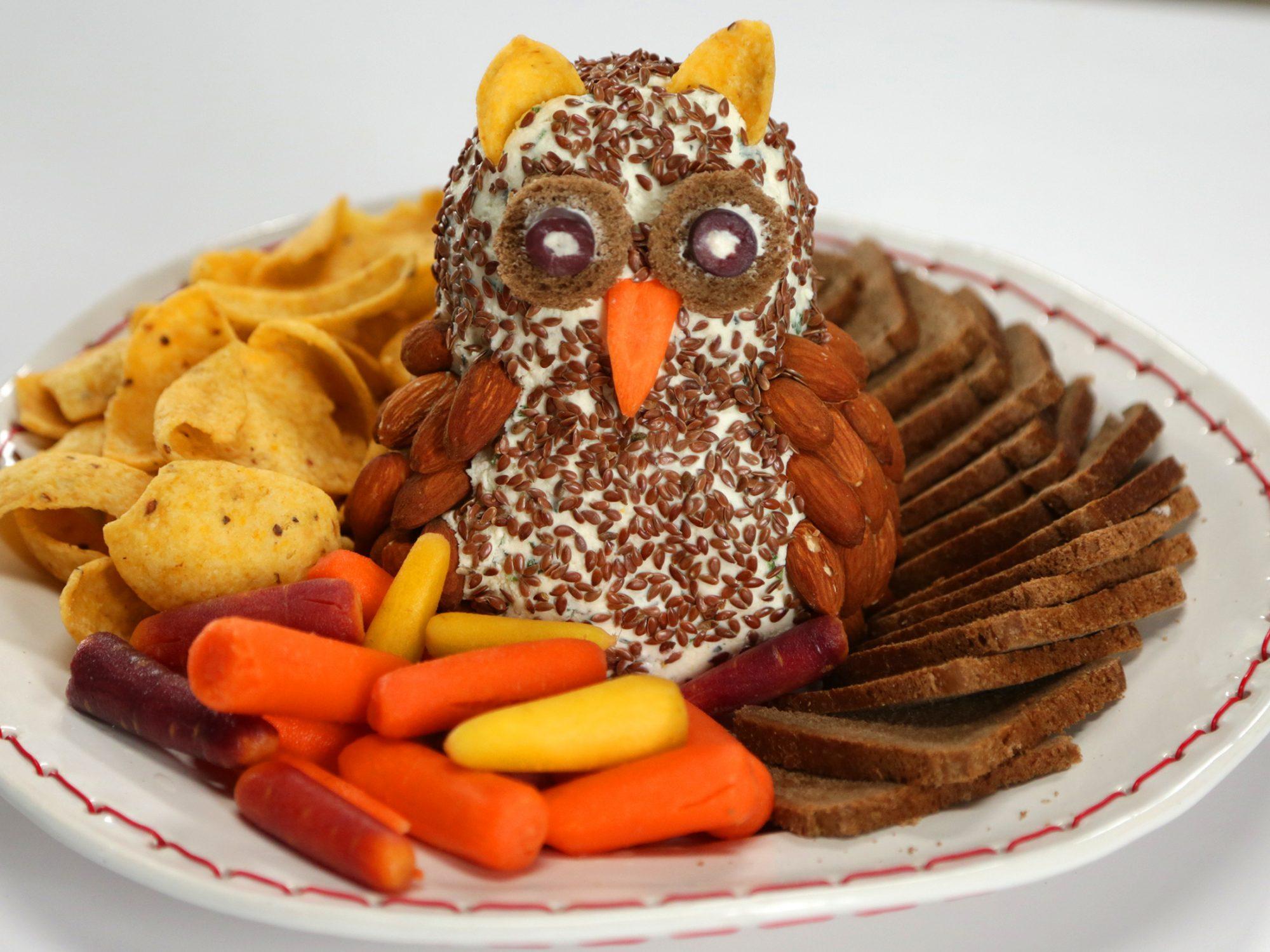 Christmas Owl Cheese Ball
