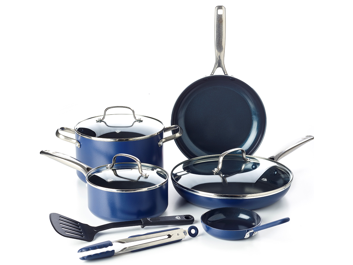 Blue Diamond Ceramic Non-Stick Ultimate Value Cookware Set