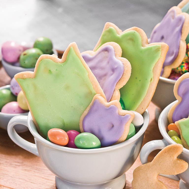 Pour a glass of milk and take a big bite out of these sweet as sugar iced flower cookies.Easter Cookies Recipe