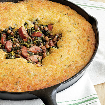 Festive Good Luck Cornbread SkilletRecipe