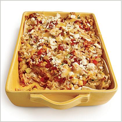 Mexican Chicken Casserole with Charred Tomato Salsa Recipe