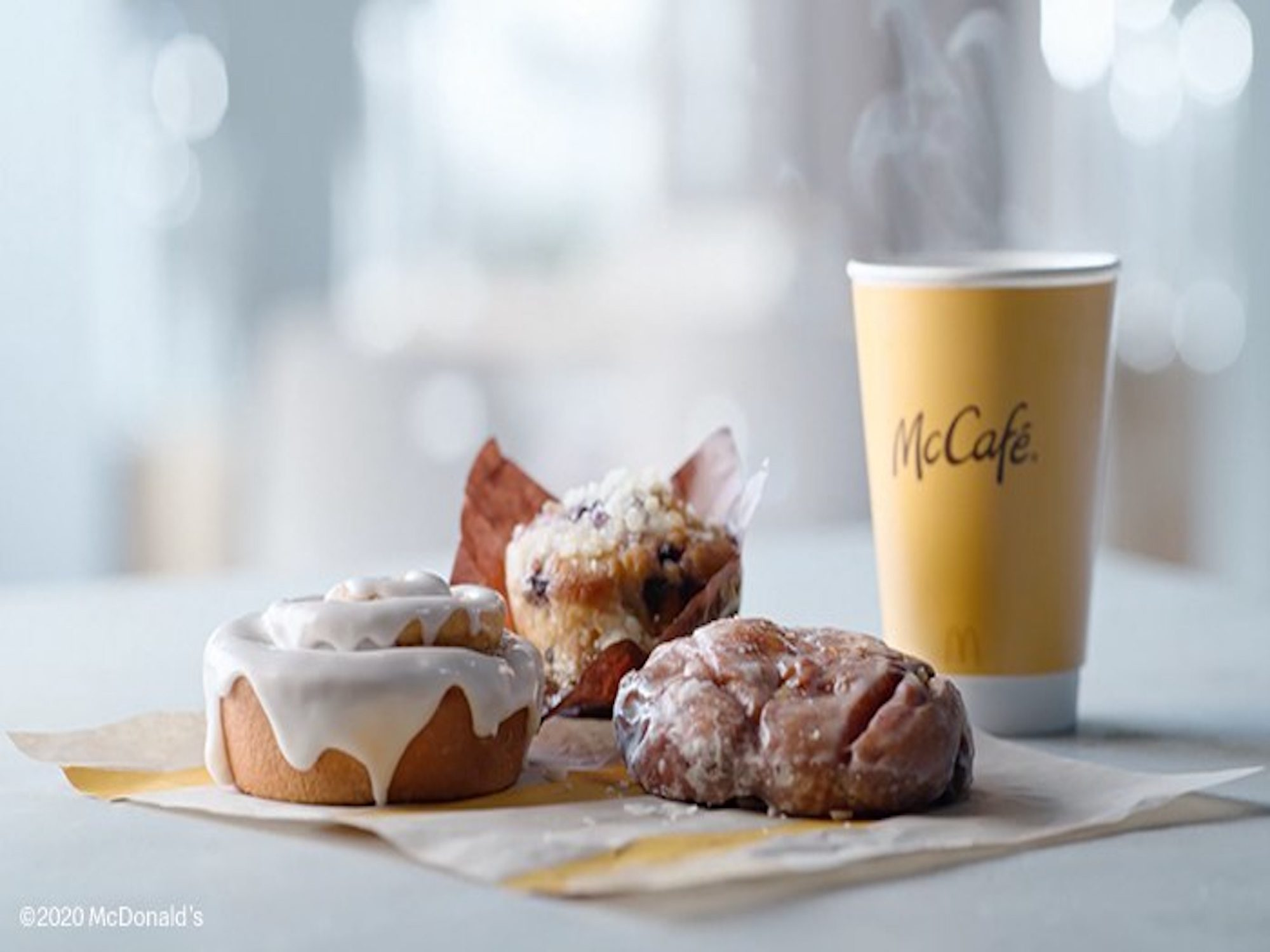Mcdonald S Is Adding Cinnamon Rolls Apple Fritters And Blueberry Muffins To Its Mccafe Menu Myrecipes