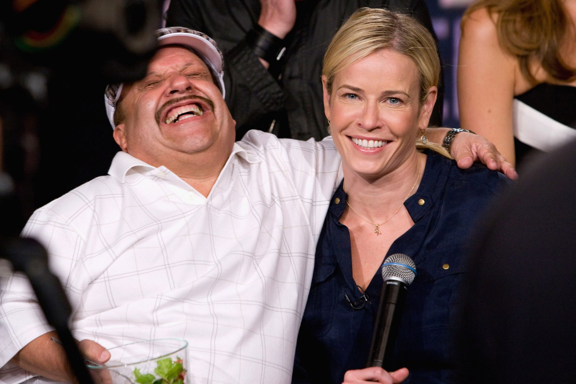 Chelsea Handler and actor Chuy Bravo