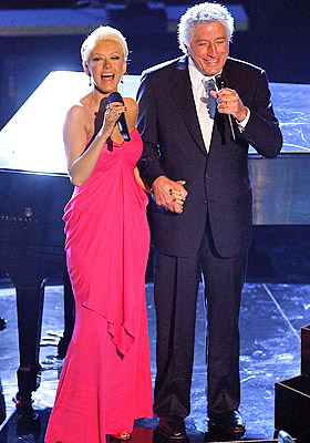 Christina Aguilera con Tony Bennett