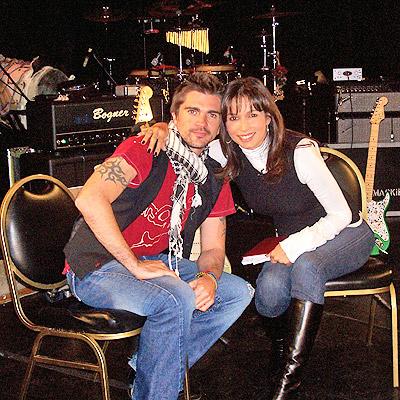 Juanes y Gisele Blondet