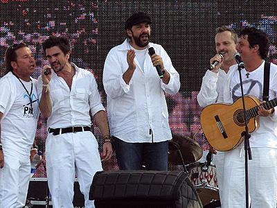Ricardo Montaner, Juanes, Juan Luis Guerra, Miguel Bose y Alejandro Sanz