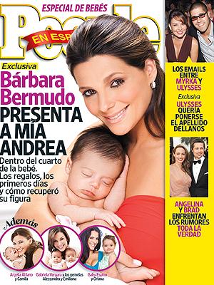 Bárbara Bermudo y Mía Andrea, portada de PEOPLE EN ESPAÑOL edición julio