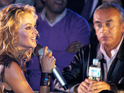 Paulina Rubio y Enrique Rubio