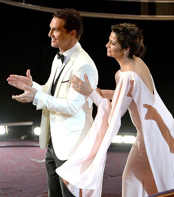 Matthew McConaughey, Camila Alaves, la gala de los premios Óscar 2014