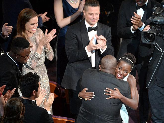Lupita Nyong'o, Brad Pitt, Angelina Jolie, Steve McQueen, Gala Premios Óscar 2014