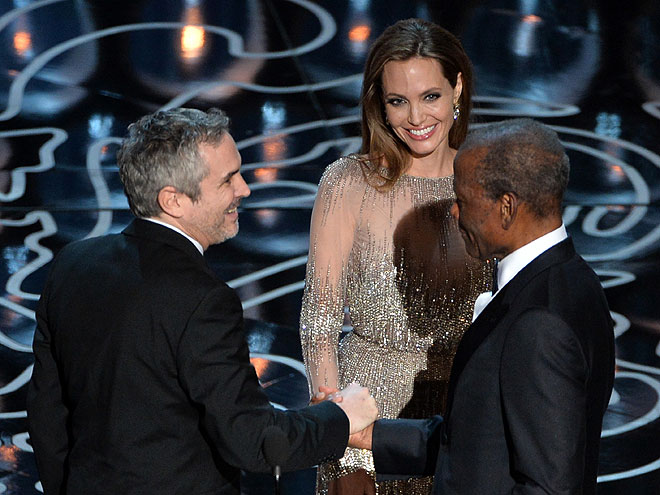 Angelina Jolie, Sidney Poiter, Alfonso Cuarón, Gala Premios Óscar 2014