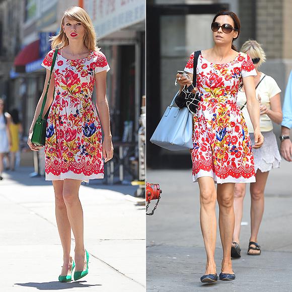 Dos mujeres un vestido, Taylor Swift, Famke Jenssen