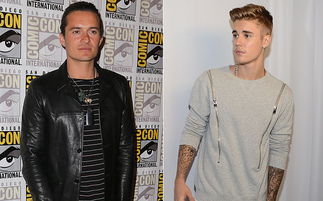 Orlando Bloom y Justin Bieber para articulo
