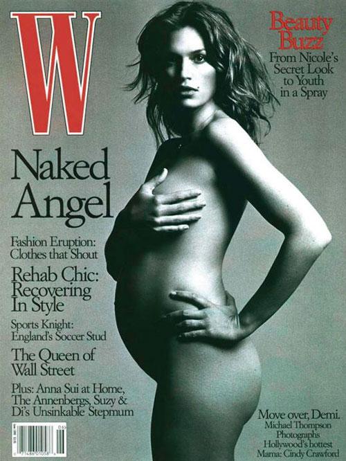 Cindy Crawford, embarzadas en portada