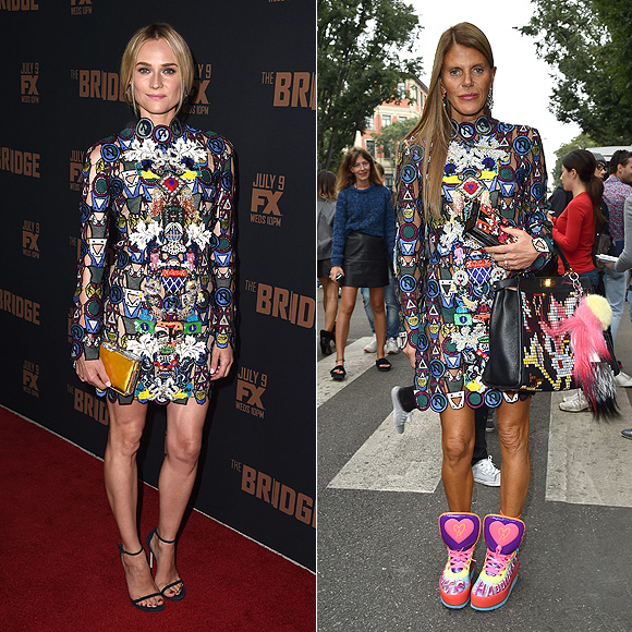 Dos mujeres un vestido, Diane Kruger, Anna Dello Russo