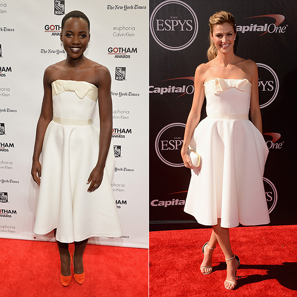 Dos mujeres un vestido, Lupita Nyong'o, Erin Andrews