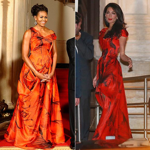 Dos mujeres un vestido, Michelle Obama, Amal Clooney