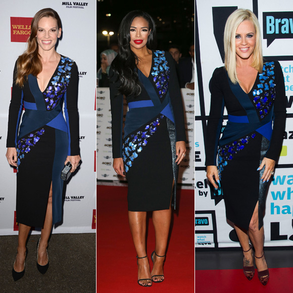 Dos mujeres un vestido, Hilary Swank, Sarah Jane Crawford, Jenny McCarthy