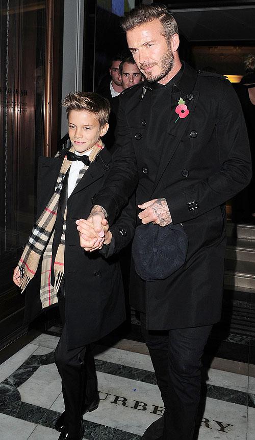David Beckham, Romeo Beckham, Míralos