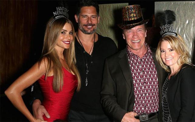 Sofía Vergara, Joe Manganiello, Arnold Schwarzenegger y Heather Milligan