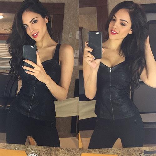 Eiza González, Instagram, nuevo color de pelo