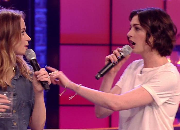 Anne Hathaway, Emily Blunt, Lip Sync Battle