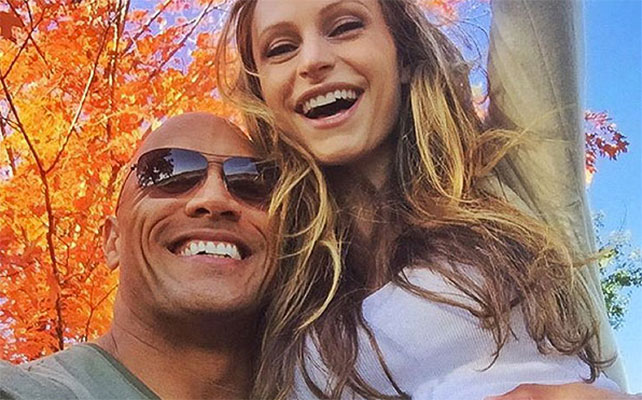 Dwayne 'The Rock' Johnson y Lauren Hashian