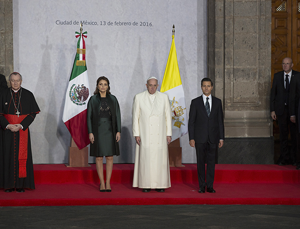 Papa Francisco, Enrique Pena Nieto, Angélica Rivera