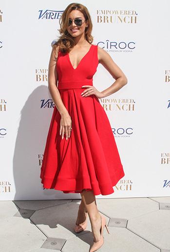 Zuleyka Rivera, vestido rojo