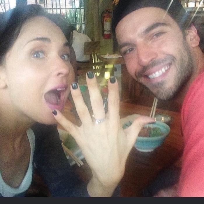 Adriana Louvier y su novio Carlos Salas