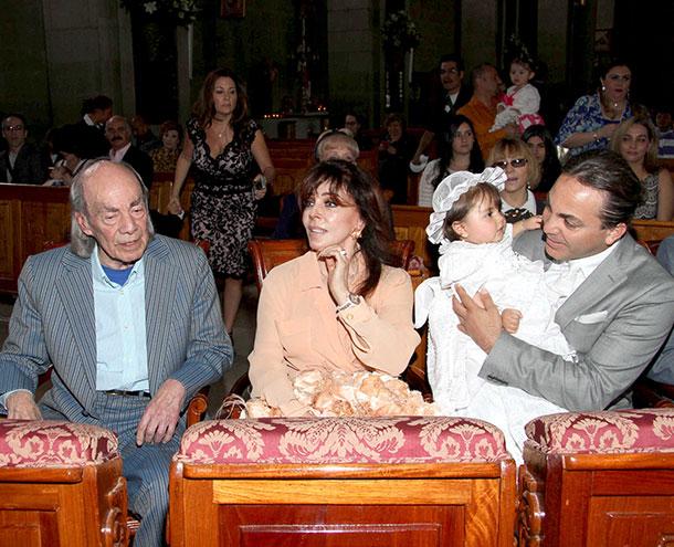 Rafaela Castro, Cristian Castro, Verónica Castro Manuel Valdéz