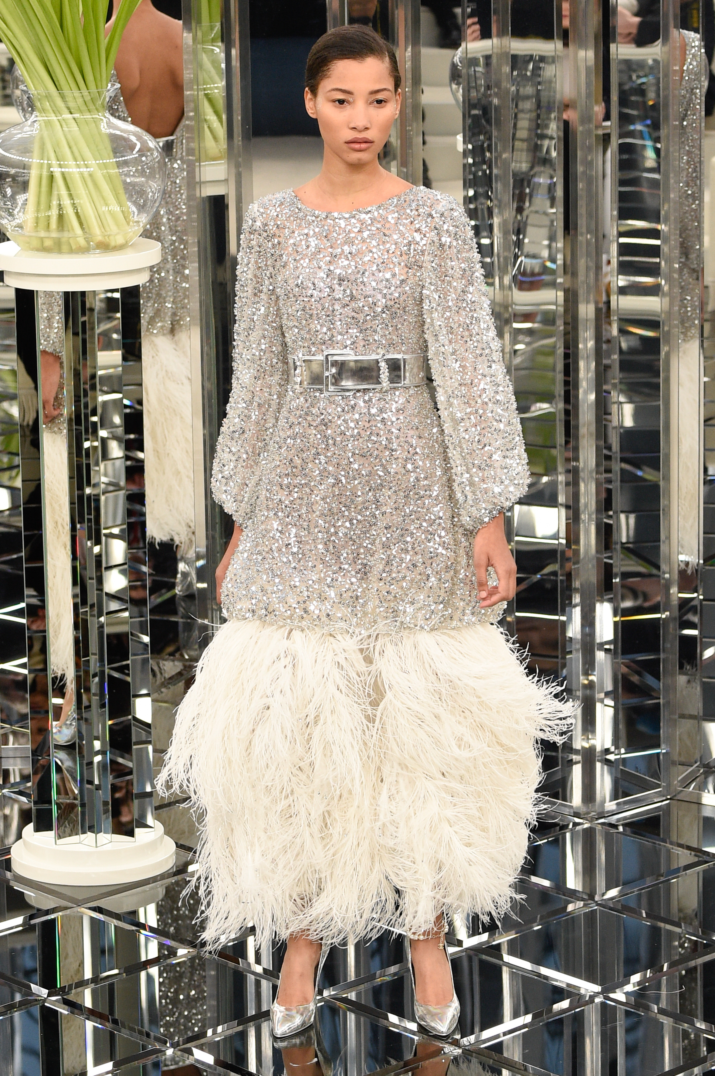 PARIS, FRANCE - JANUARY 24: Lineisy Montero walks the runway during the Chanel Spring Summer 2017 show as part of Paris Fashion Week on January 24, 2017 in Paris, France. (Photo by Peter White/Getty Images)