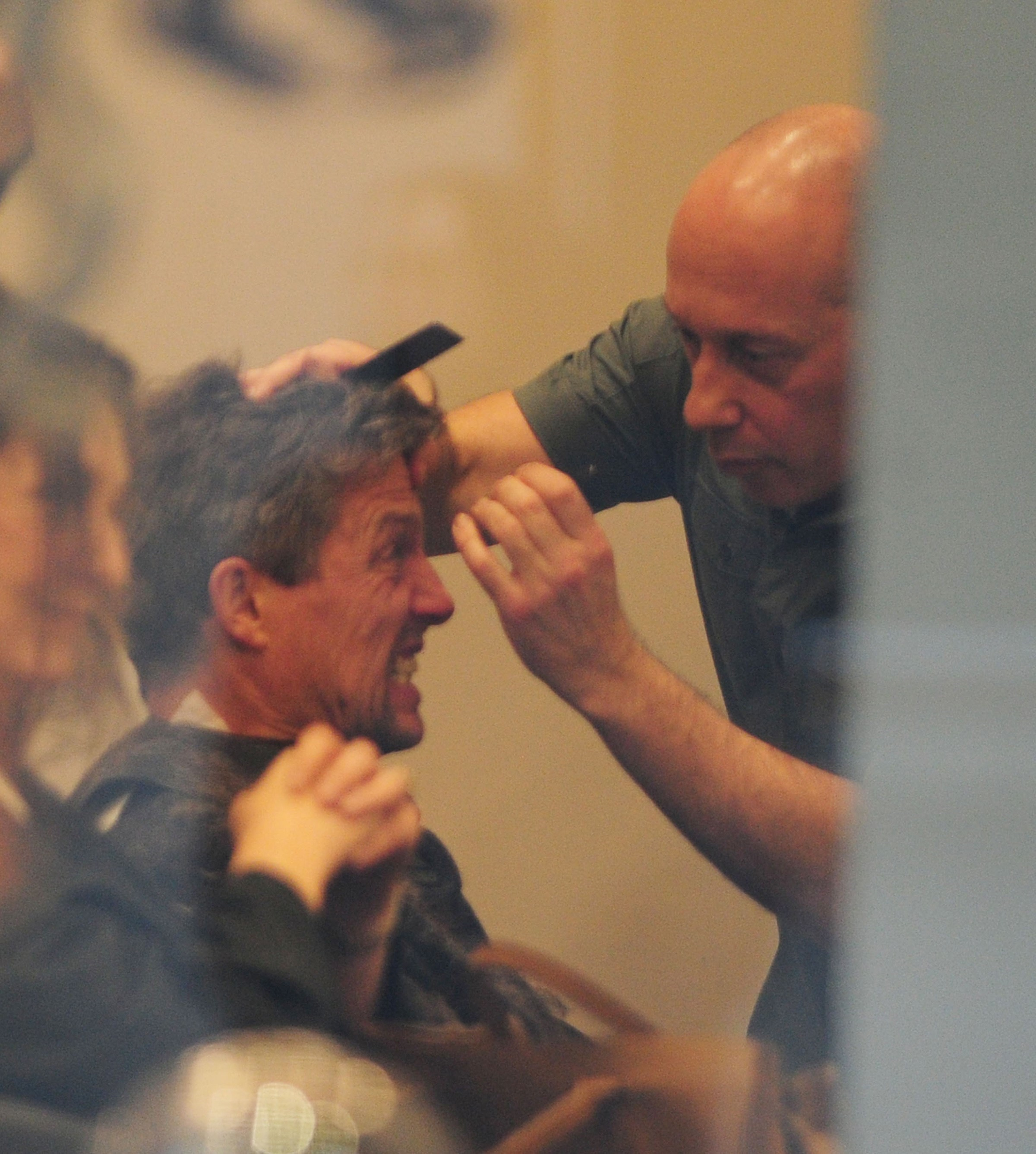 EXCLUSIVE Hugh Grant Gets A Clean Haircut And Grooming Session At Jo Hansford Salon