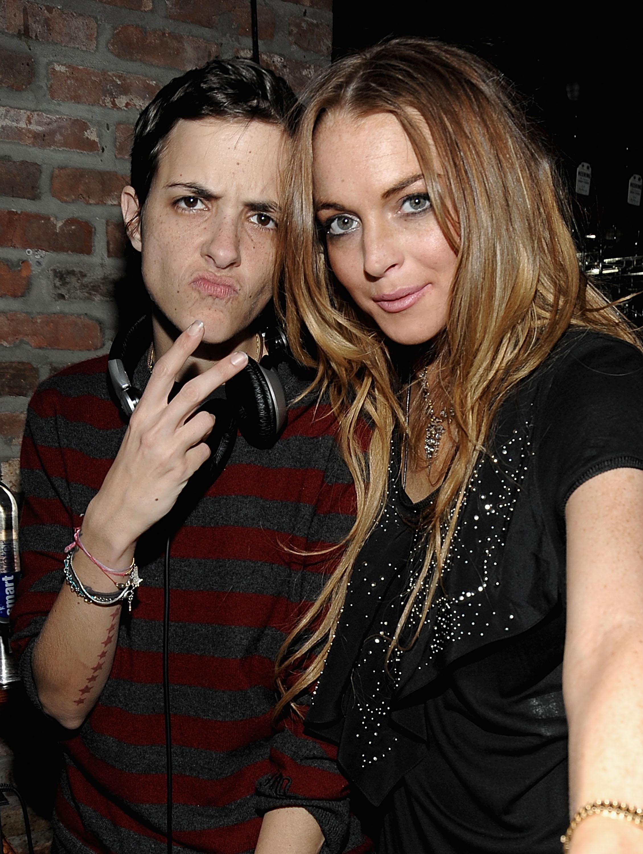 DJ Samantha Ronson y Lindsay Lohan