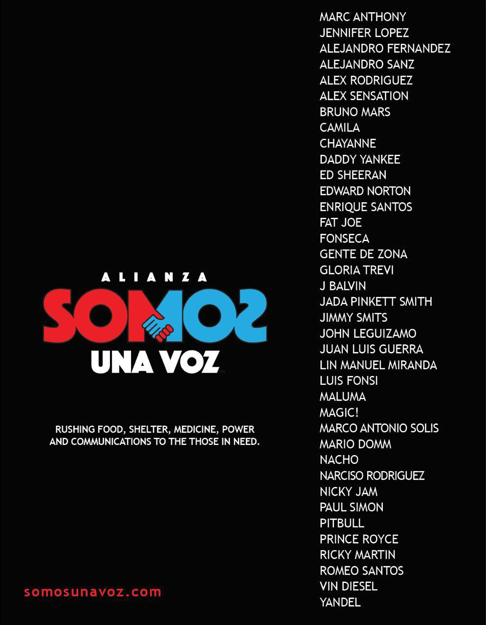 SOMOS UNA VOZ-Marc Anthony