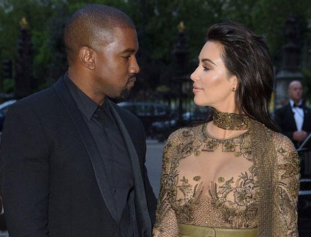 Kanye West y Kim Kardashian