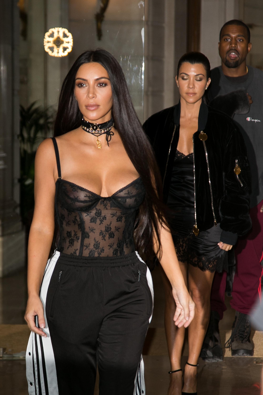 Kim Kardashian & Kany West Sighting  : Day Three Paris Fashion Week Spring/Summer 2017