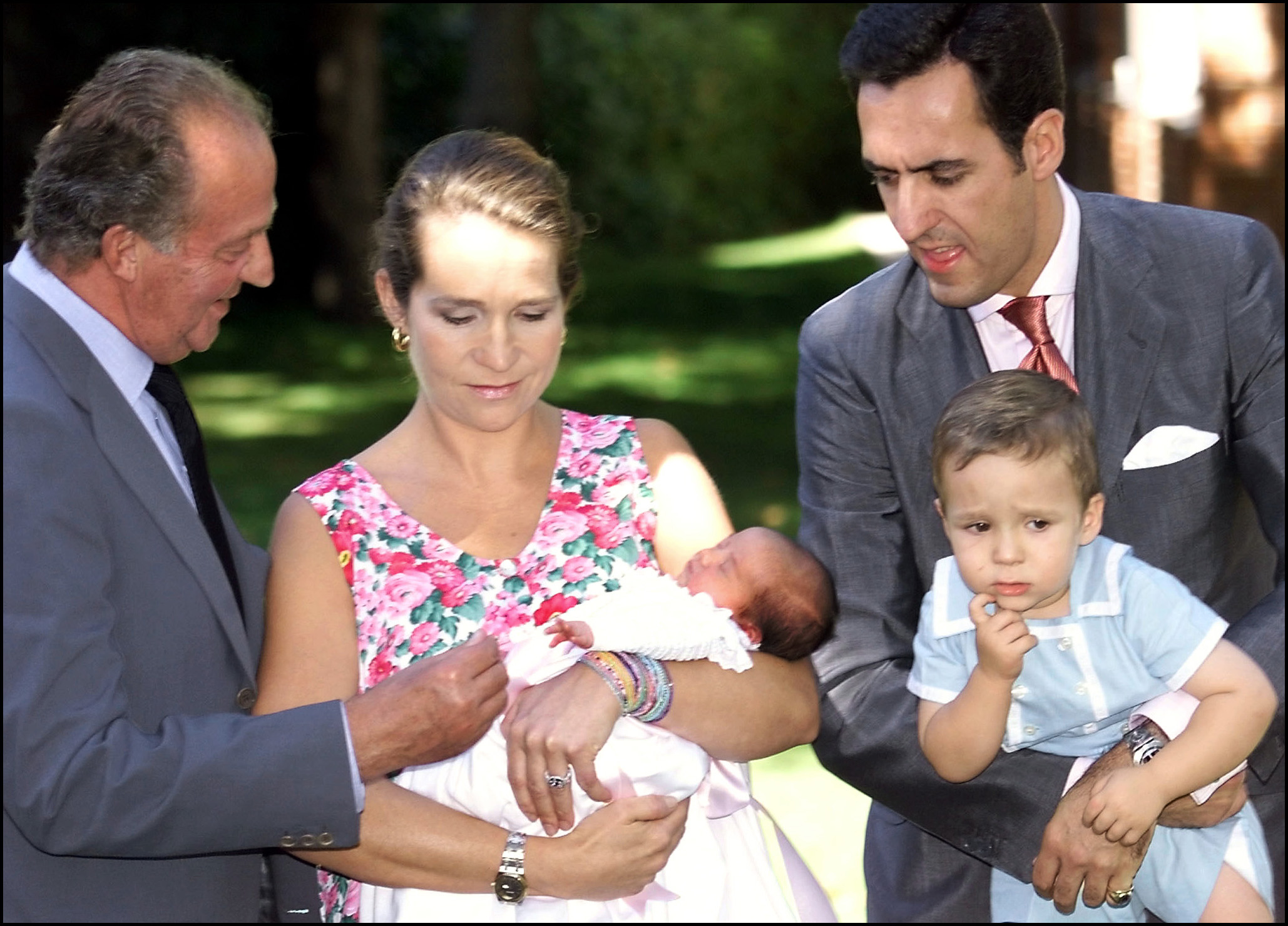Infanta Elena y familia